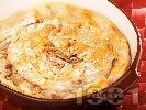 Рецепта Постна ябълкова вита баница с орехи и канела